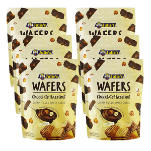 Julie's Chocolate Hazelnut Wafers 6 Pack (150g per Pack)