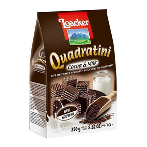 Loacker Quadratini Cocoa & Milk Wafer 250g