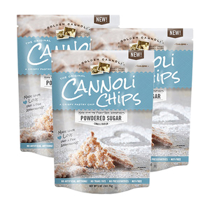 The Original Powdered Sugar Cannoli Chips 3 Pack (144g per Pack)