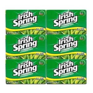 Irish Spring Deodorant Soap Aloe 6 Pack (106g per pack)