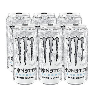 Monster Ultra Energy Drink Zero 6 Pack (458.3ml per pack)