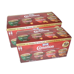 Nestle Carnation Hot Chocolate Mix Variety 2 Pack (40's per pack)