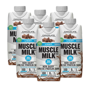 Muscle Milk Light Protein Shake Chocolate 6 Pack (325.3ml per pack)