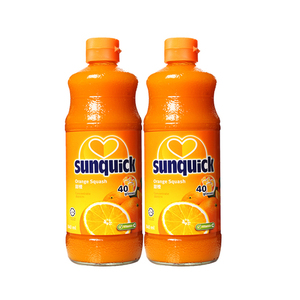 Sunquick Orange Squash Concentrate 2 Pack (840 ml per pack)