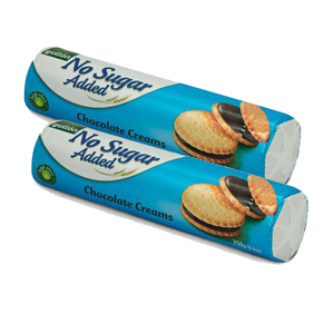 Gullon No Added Sugar Chocolate Flavored Filling Sandwich Cookie 2 Pack (250g per Pack)