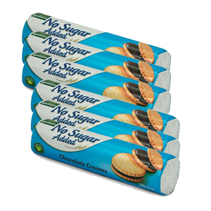Gullon No Added Sugar Chocolate Flavored Filling Sandwich Cookie 6 Pack (250g per Pack)