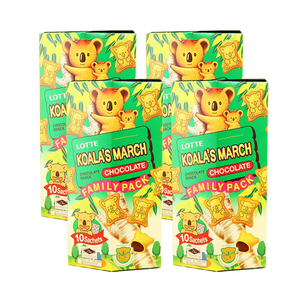Lotte Koala's March Chocolate Cream Filled Cookies 4 Pack (10ct per Box)