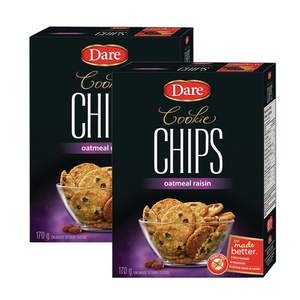 Dare Cookie Chips Oatmeal Raisin 2 Pack (170g per Box)