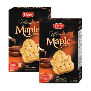 Dare Ultimate Maple Creme Cookies 2 Pack (300g per Box)