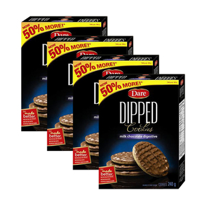 Dare Dipped Milk Chocolate Digestive Cookies 4 Pack (240g per Pack)