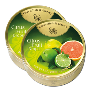Cavendish & Harvey Citrus Fruit Drops 2 Pack (200g per can)