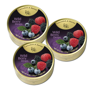 Cavendish & Harvey Wild Berry Drops 3 Pack (175g per can)