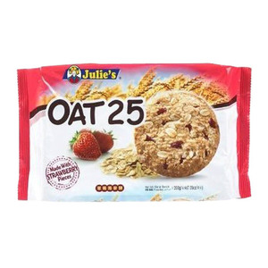Julie's Oat 25 Made with Strawberry Pieces Cookies 200g