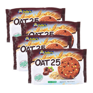 Julie's Oat 25 Added with Hazelnuts and Chocolate Chips 4 Pack (200g per Pack)