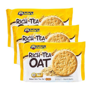 Julie's Rich Tea Oat Biscuit 3 Pack (210g per Pack)