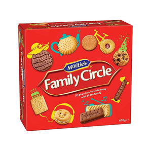 Mcvities Family Circle Assorted Biscuits 670g