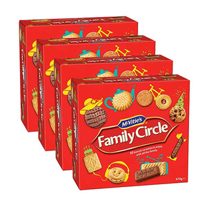 Mcvities Family Circle Assorted Biscuits 4 Pack (670g per Box)