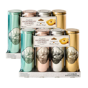 Member's Mark European Shortbread Cookies Tins by Stockmeyer 2 Pack (4x400g per Pack)