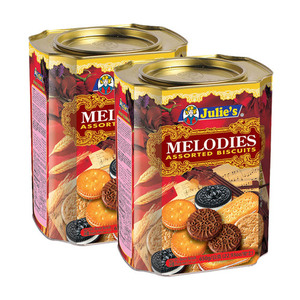 Julie's Melodies Assorted Biscuits 2 Pack (650g per Can)