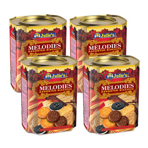 Julie's Melodies Assorted Biscuits 4 Pack (650g per Can)