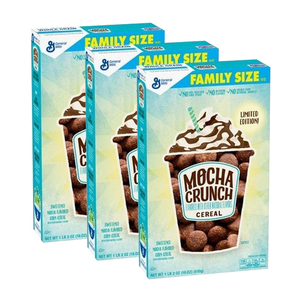 General Mills Mocha Crunch Cereal 3 Pack (510g per Box)