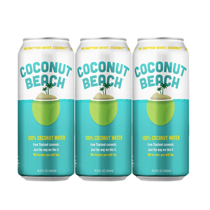 Coconut Beach 100% Coconut Water 3 Pack (490ml per pack)