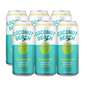 Coconut Beach 100% Coconut Water 6 Pack (490ml per pack)