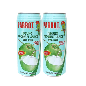 Parrot Brand Coconut Water 2 Pack (487.9ml per pack)
