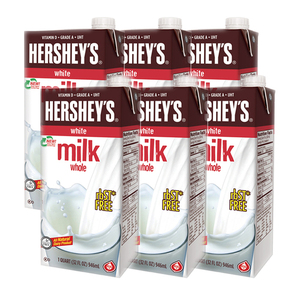 Hershey's Whole White Milk 6 Pack (946ml per Box)
