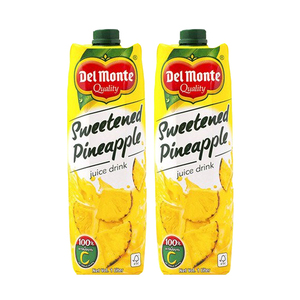 Del Monte Sweetened Pineapple Juice 2 Pack (1L per pack)
