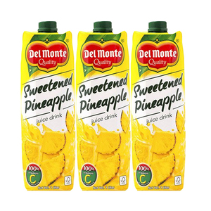 Del Monte Sweetened Pineapple Juice 3 Pack (1L per pack)