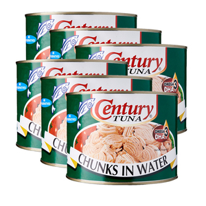 Century Tuna Chunks In Water 6 Pack (1705g per pack)