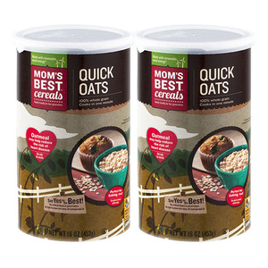 Mom's Best Cereals Quick Oats 2 Pack (453g per Can)