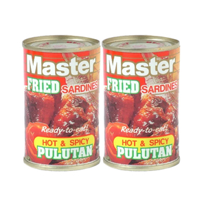 Master Fried Sardines Hot Spicy Pulutan 2 Pack (155g per pack)