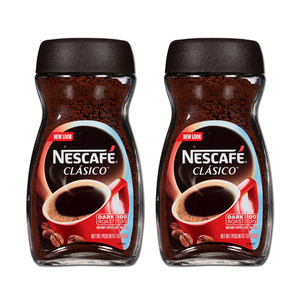 Nestle Nescafe Clasico Instant Coffee 2 Pack (200g per Bottle)