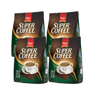 Super Coffee Rich 3in1 Low Fat Coffee 4 Pack (30x20g per Pack)
