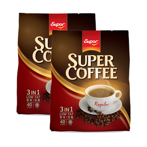 Super Coffee Regular 3in1 Low Fat Coffee 2 Pack (40x20g per Pack)