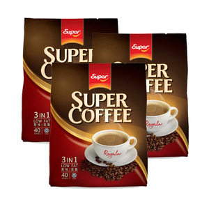 Super Coffee Regular 3in1 Low Fat Coffee 3 Pack (40x20g per Pack)