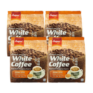 Super Charcoal Roasted White Coffee Brown Sugar 4 Pack (14x15g per Pack)