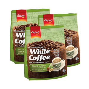 Super Charcoal Roasted 3in1 Hazelnut White Coffee 3 Pack (15x36g per Pack)