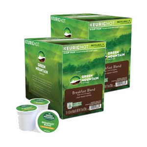 Green Mountain Coffee Roasters Breakfast Blend Coffee K-Cup Pod 2 Pack (12x9.4g per Box)
