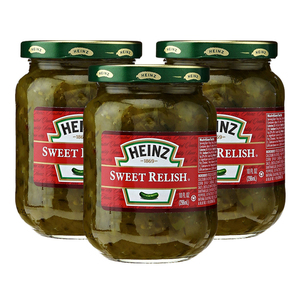 Heinz Sweet Relish 3 Pack (296ml per pack)