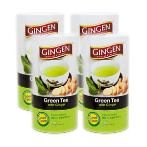Gingen Green Tea with Ginger 4 Pack (20x2g per Canister)