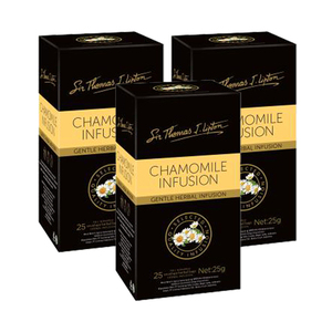 Sir Thomas J. Lipton Chamomile Infusion Tea 3 Pack (25x1g per Box)