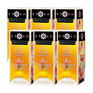 Stash English Lemon Ginger Tea 6 Pack (30ct per Box)