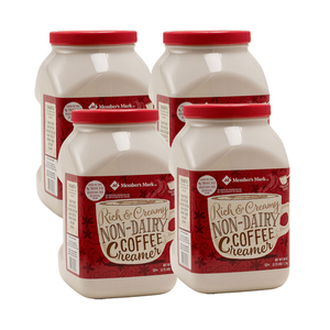 Member's Mark Rich and Creamy Non-Dairy Coffee Creamer 4 Pack (1.7kg per Jar)