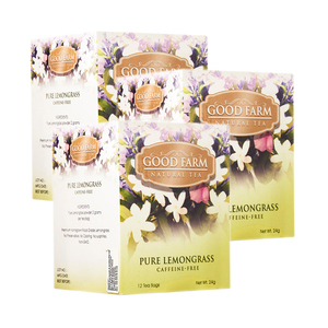 Good Farm Pure Lemongrass Natural Tea 3 Pack (12x2g per Box)