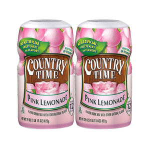Country Time Pink Lemonade Drink Mix 2 Pack (822g per Canister)
