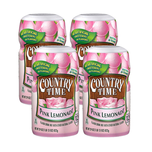 Country Time Pink Lemonade Drink Mix 4 Pack (822g per Canister)