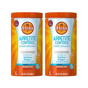 Metamucil Appetite Control Orange Zest Dietary Supplement 2 Pack (662g per Bottle)